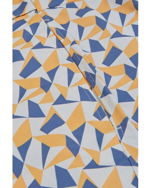 Frescobol Carioca Blue Fragment Tailored Swim Shorts