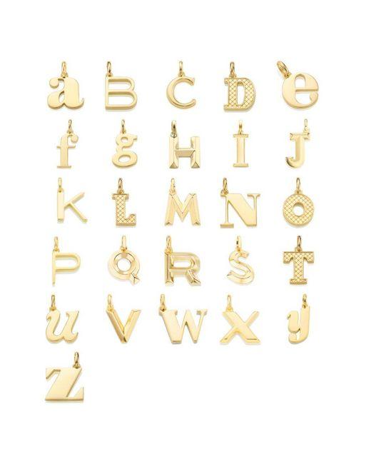 Monica Vinader - Metallic A-z 18-karat Gold Vermeil Pendants - Lyst