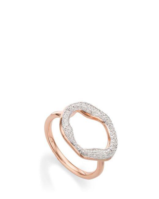 Monica Vinader | Multicolor Riva Diamond Ring | Lyst