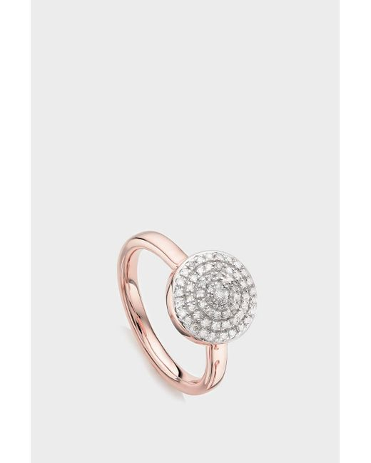 Monica Vinader Multicolor Fiji Large Button Stacking Ring