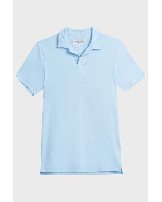 Orlebar Brown - Blue Felix Cotton Polo Shirt for Men - Lyst