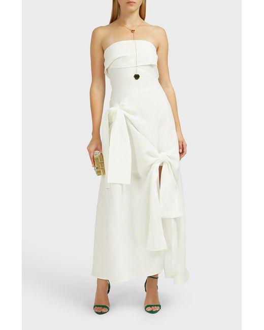 b4951e4b62 Rejina Pyo - Multicolor Marta Strapless Linen-blend Dress - Lyst ...