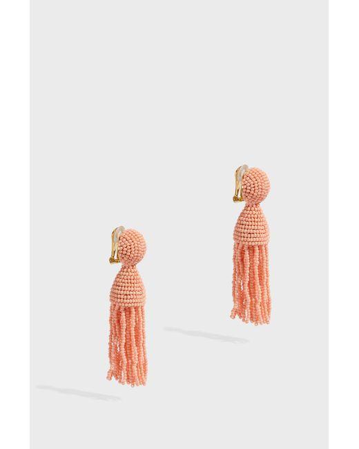 Oscar de la Renta - Metallic Short Tassel Earrings, Size Os, Women, Pink - Lyst