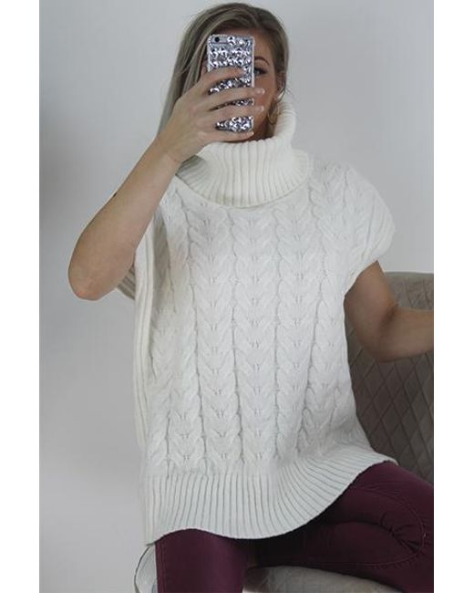 Boutique Store Gray Cable Knit Jumper
