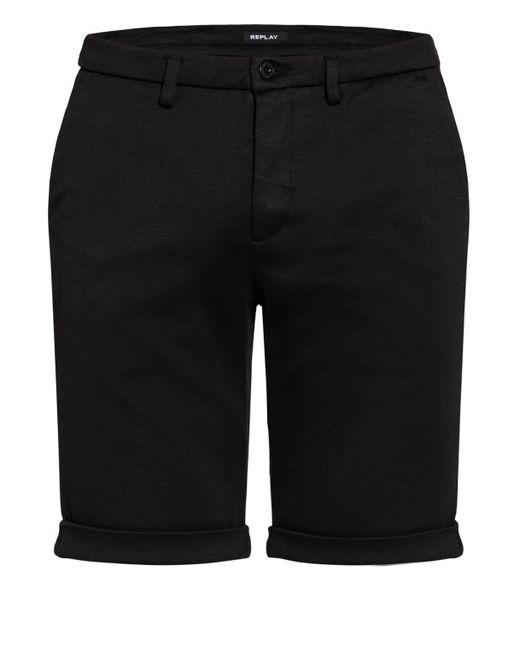Replay Chino-Shorts SIMON in Black für Herren