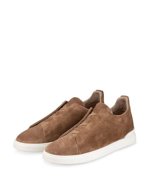 Ermenegildo Zegna Slip-on-Sneaker in Natural für Herren