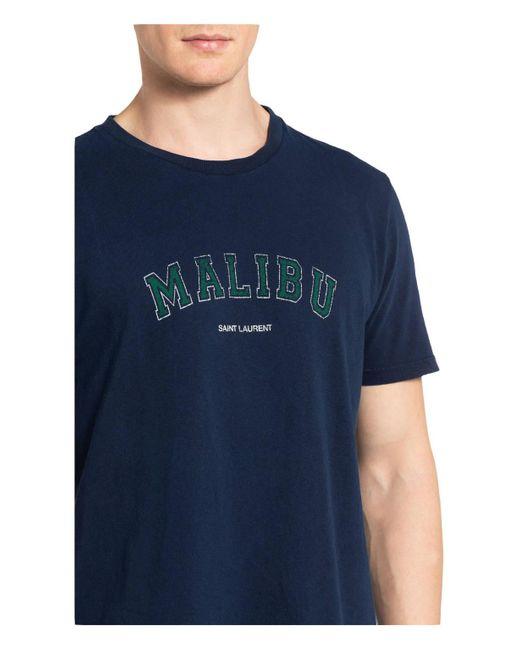 Saint Laurent T-Shirt in Blue für Herren