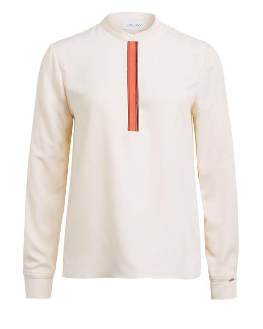 Calvin Klein Natural Blusenshirt