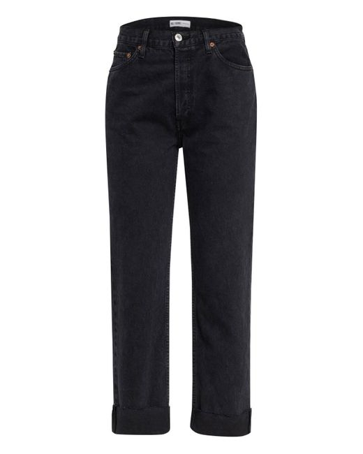 Re/done Black 7/8-Jeans
