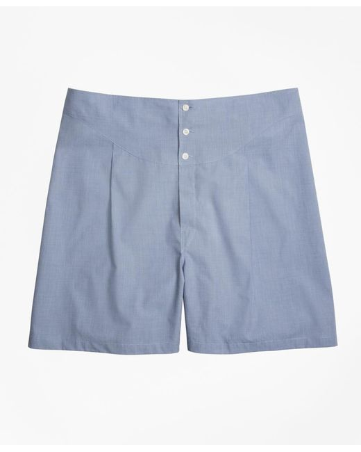 Brooks Brothers | Blue French Back Boxers for Men | Lyst