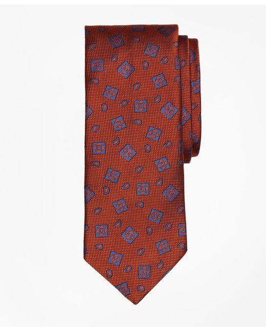 Brooks Brothers - Orange Tossed Alternating Medallion Tie for Men - Lyst