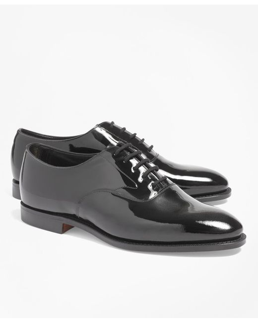 Brooks Brothers - Black Patent Lace-ups for Men - Lyst