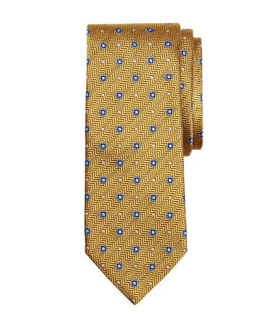 Brooks Brothers | Metallic Herringbone Circle Tie for Men | Lyst