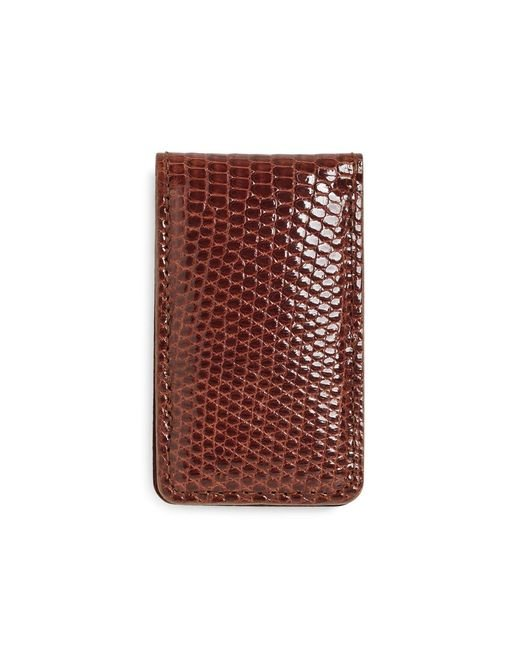 Brooks Brothers - Brown Lizard Money Clip for Men - Lyst