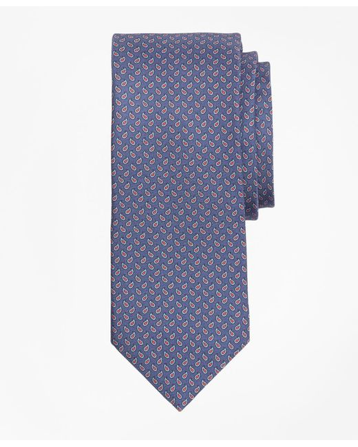 Brooks Brothers - Blue Micro-pine Print Tie for Men - Lyst