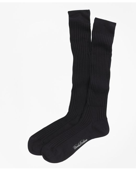 Brooks Brothers | Blue Merino Wool Ribbed Over-the-calf Socks for Men | Lyst