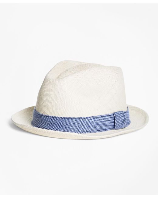 Brooks Brothers | Natural Straw Block Hat for Men | Lyst