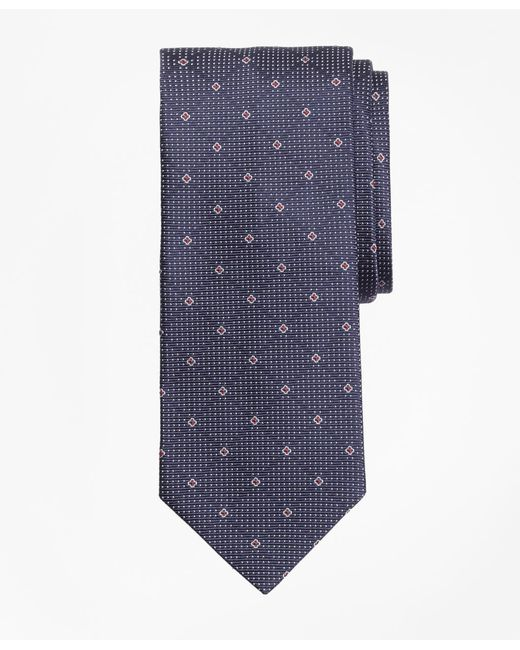 Brooks Brothers - Blue Cross And Dots Tie for Men - Lyst