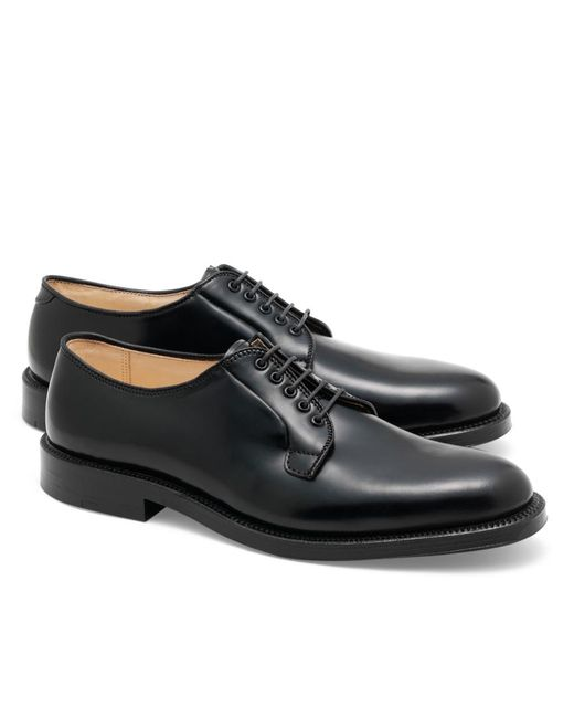 Brooks Brothers | Black Cordovan Leather Bluchers for Men | Lyst