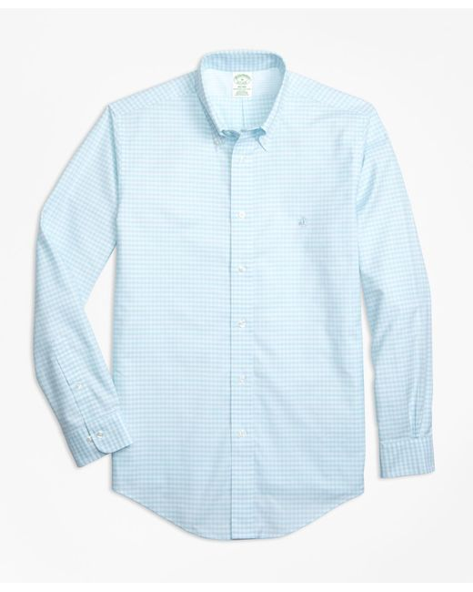 Brooks Brothers | Blue Non-iron Milano Fit Gingham Sport Shirt for Men | Lyst