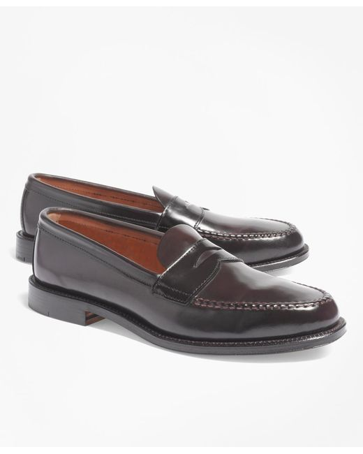 Brooks Brothers | Purple Cordovan Unlined Penny Loafers for Men | Lyst