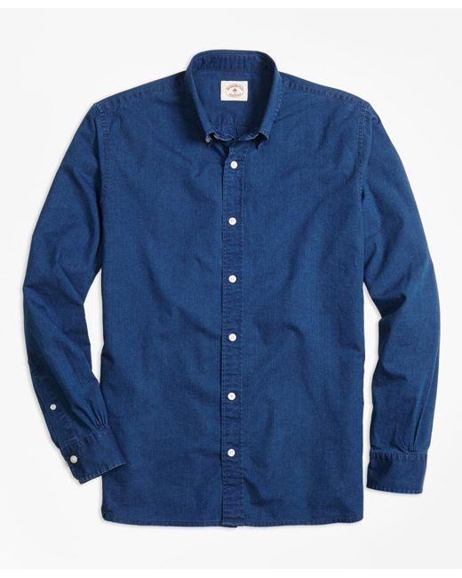 Brooks Brothers | Blue Dark Chambray Sport Shirt for Men | Lyst