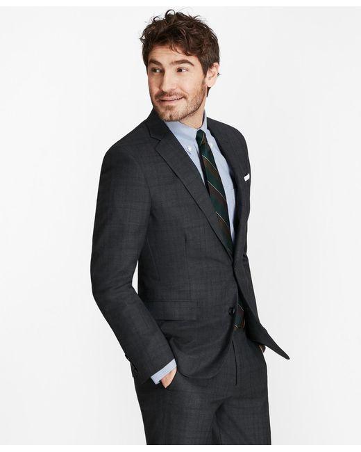 Brooks Brothers - Gray Golden Fleece® Regent Fit Plaid With Deco Suit for Men - Lyst