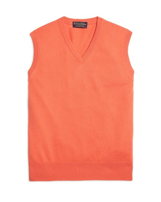 Brooks Brothers - Pink Cashmere Sweater Vest for Men - Lyst