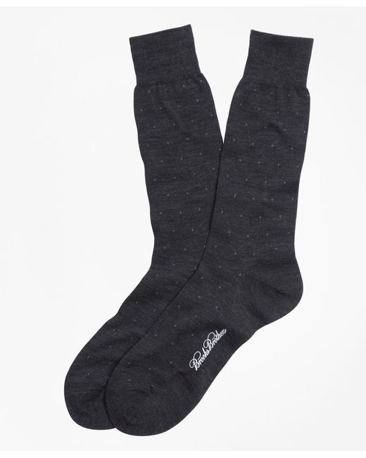 Brooks Brothers | Gray Merino Wool Big Dot Crew Socks for Men | Lyst