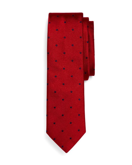 Brooks Brothers - Red Woven Dot Slim Tie for Men - Lyst