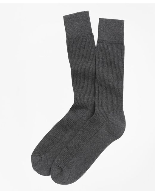 Brooks Brothers | Gray Cotton Cushion Sole Socks for Men | Lyst