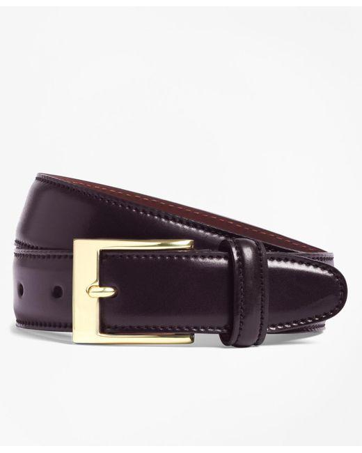 Brooks Brothers - Purple Cordovan Belt for Men - Lyst