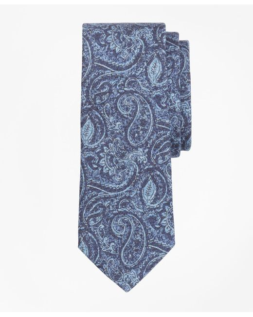 Brooks Brothers - Blue Paisley Print Tie for Men - Lyst