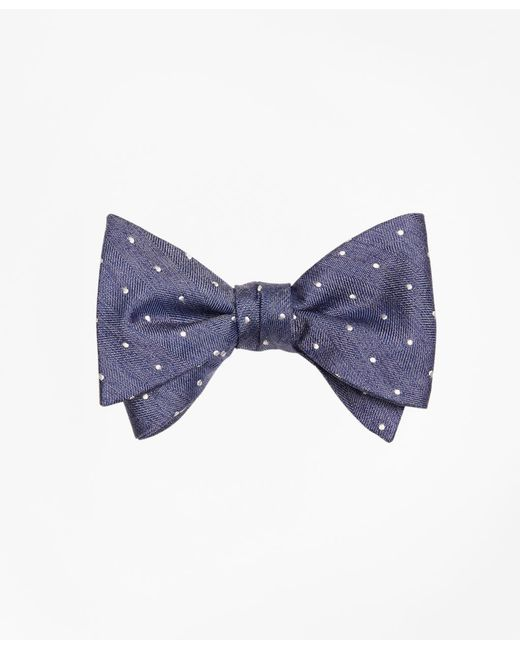 Brooks Brothers - Blue Heathered Dot Bow Tie for Men - Lyst