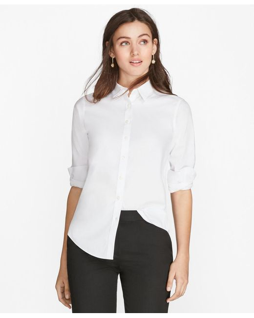 Lyst brooks brothers non iron classic fit dress shirt in for Brooks brothers non iron shirts review