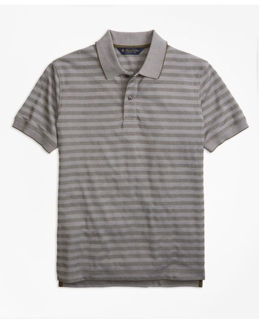Brooks Brothers - Green Original Fit Textured Stripe Polo Shirt for Men - Lyst