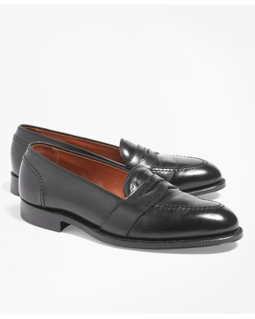 Brooks Brothers Black Cordovan Low Vamp Loafers for men