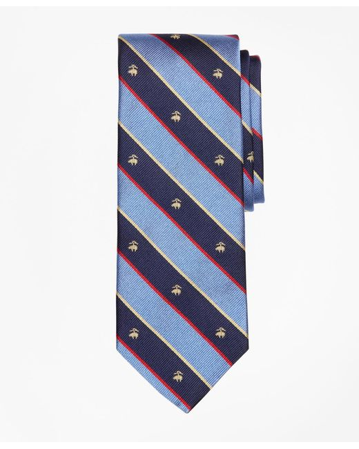 Brooks Brothers Blue Argyll And Sutherland With Golden Fleece Stripe Tie for men
