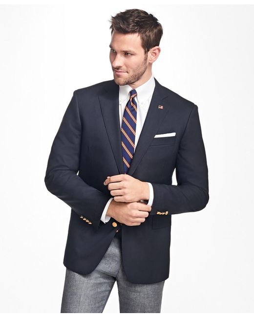 Brooks Brothers Blue Slim Fit Two-button 1818 Blazer for men