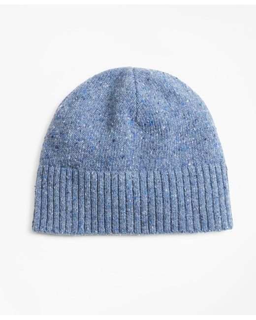 c30f71bc54260 Brooks Brothers Merino Wool Donegal Knit Hat in Blue for Men - Lyst