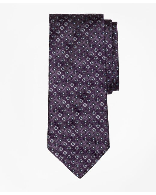 Brooks Brothers - Purple Framed Medallion Tie for Men - Lyst
