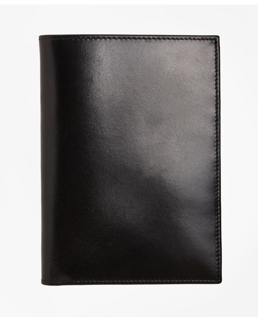 Brooks Brothers - Black French Calfskin Passport Case for Men - Lyst