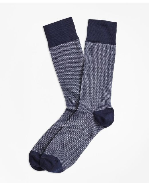 Brooks Brothers - Blue Color-block Crew Socks for Men - Lyst