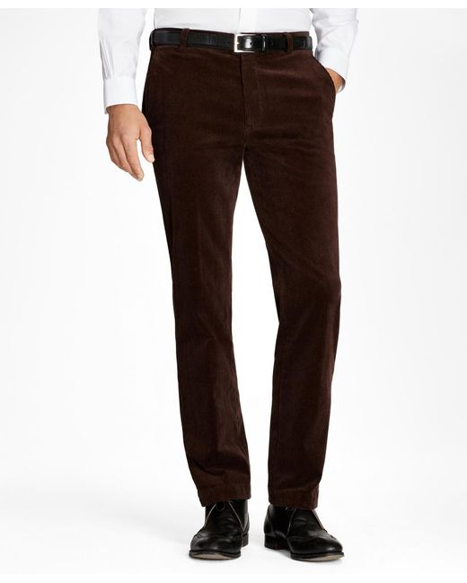 Brooks Brothers | Brown Clark Fit Wide Wale Stretch Corduroys for Men | Lyst