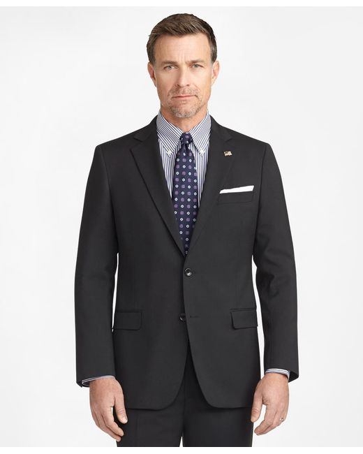 Brooks Brothers Black Fitzgerald Fit Two-button 1818 Suit for men