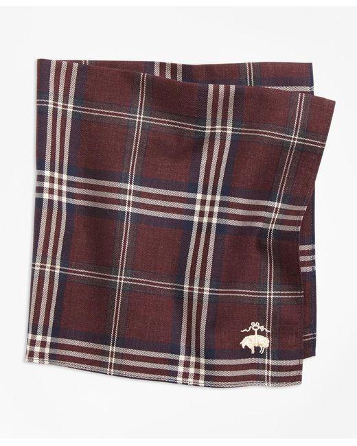 Brooks Brothers - Multicolor Tartan Pocket Square for Men - Lyst