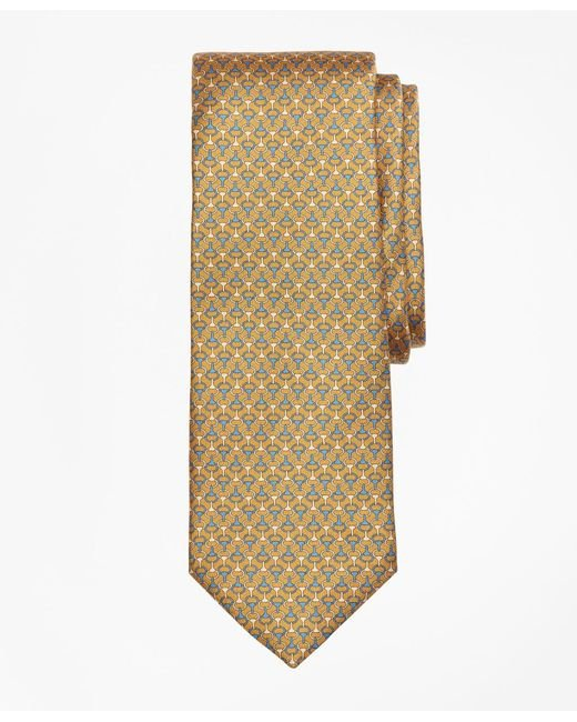 Brooks Brothers - Yellow Link Print Tie for Men - Lyst