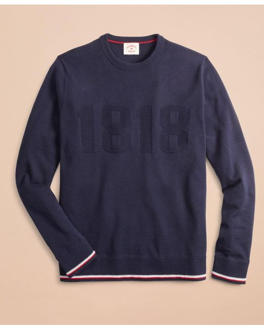 Brooks Brothers Blue Cotton-cashmere 1818 Sweater for men