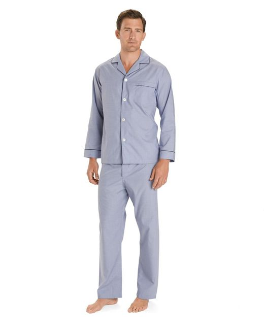 Brooks Brothers | Blue Wrinkle-resistant Broadcloth Pajamas for Men | Lyst