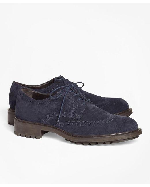 Brooks Brothers Blue 1818 Footwear Wingtips for men